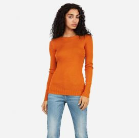 Fitted Crew Neck Sweater at Express