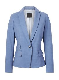 Fitted Crop Lightweight Wool Blazer by Banana Republic at Banana Republic