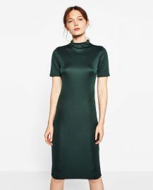 Fitted Mid Length Dress at Zara
