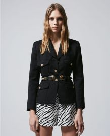 Fitted Stretchy Jacket at The Kooples