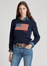 Flag Cotton Crewneck Sweater at Ralph Lauren