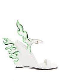 Flame patent-leather sandals at Matches