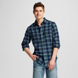 Flannel Button Down Green at Target