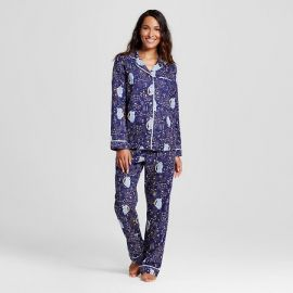 Flannel Pajama Set in Owl Stargaze at Target