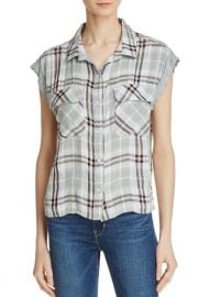 Flap Pocket Plaid Crop Shirt by Bella Dahl at Bloomingdales