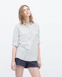 Flap Pockets Striped Shirt at Zara