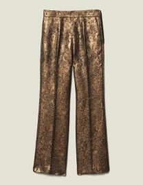 Flared Brocade Tailored Pants at Orchard Mile