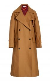 Flared Cotton-Blend Trench Coat at Moda Operandi