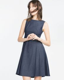 Flared Denim Dress at Zara