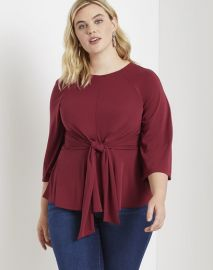 Flared Sleeve Tie Front Top by Eloquii at Eloquii