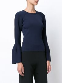 Flared Sleeves Knitted Blouse by Jonathan Simkhai at Farfetch