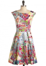 Flared printed dress from Modcloth at Modcloth