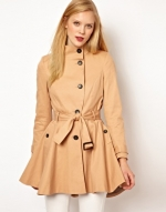 Flared trench coat at ASOS at Asos