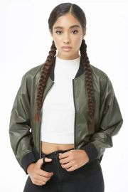Flat Collar Bomber Jacket at Forever 21