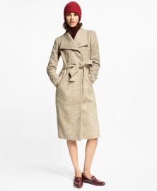 Flecked Herringbone Tweed Coat  at Brooks Brothers