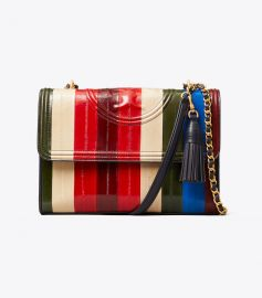 Fleming Eel Patchwork Convertible Shoulder Bag at Tory Burch