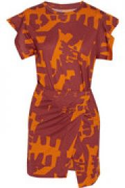 Flessy printed cotton-jersey mini dress at The Outnet