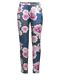 Fleur du Mal - Contrast Back Seam Silk Pajama Pants at Saks Fifth Avenue