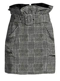 Fleur du Mal - Plaid Paper Bag Skirt at Saks Fifth Avenue