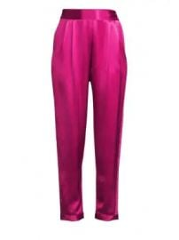 Fleur du Mal - Racing Stripe Rolled Cuff Banded Waist Silk Tuxedo Pants at Saks Fifth Avenue