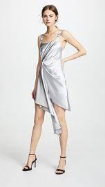 Fleur du Mal Asymmetrical Cascade Slip Dress at Shopbop