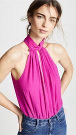 Fleur du Mal Keyhole Draped Bodysuit at Shopbop