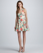 Fleur floral dress by Alice and Olivia at Bergdorf Goodman
