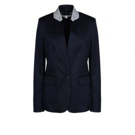 Fleur navy wool blazer at Harvey Nichols