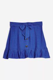 Flippy button mini skirt at Topshop