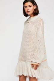 Float on Peplum Sweater at Free People