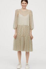 Flock-print Mesh Dress at H&M