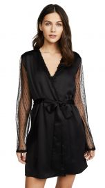 Flora Nikrooz Showstopper Charmeuse Robe With Lace at Shopbop