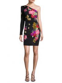 Flora Fauna Embellishment One Shoulder Dress by Nicole Miller at Gilt at Gilt