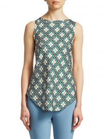 Floral Print Racer Top at Saks Fifth Avenue