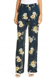 Floral Print Silk Palazzo Pants at Nordstrom Rack