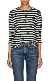 Floral   Striped Cotton T-Shirt at Barneys