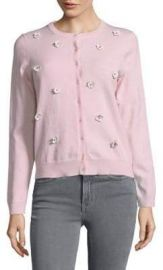 Floral Applique Cardigan at Lord & Taylor