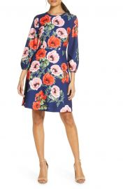 Floral Blouson Sleeve Dress by Eliza J at Nordstrom