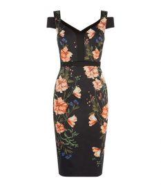 Floral Bodycon Dress at Karen Millen