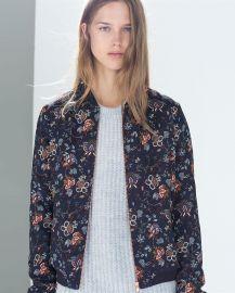 Floral Bomber Jacket at Zara