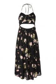 Floral Bow Front Halter Dress at Topshop