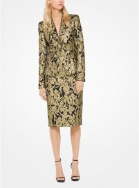 Floral Brocade Blazer at Michael Kors