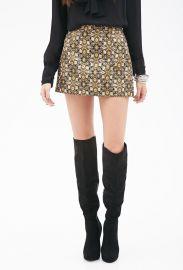 Floral Brocade Mini Skirt at Forever 21