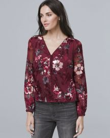 Floral Burnout Blouse at WHBM