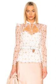 Floral Bustier Long Sleeve Top by Brock Collection at Forward