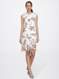 Floral Chemical Lace Sheath by Tahari ASL at Tahari ASL