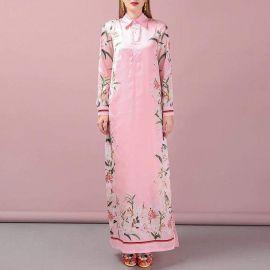Floral Collar Maxi Dress by Sonja at Sonja