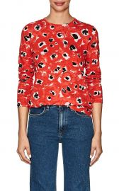Floral Cotton Jersey Long Sleeve T-Shirt by Proenza Schouler at Barneys