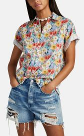 Floral Cotton Skater Shirt by R13 at Barneys
