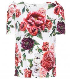 Floral Crepe Top by Dolce & Gabbana at Mytheresa
